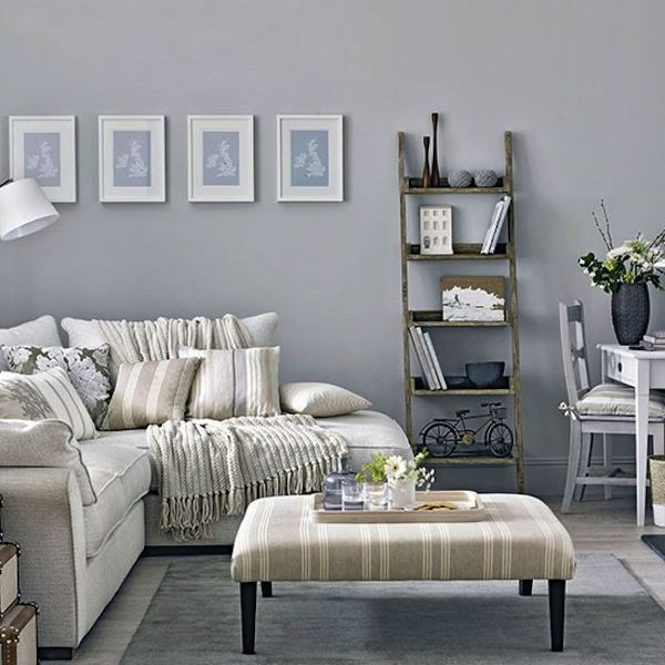35 amazing neutral living room designs 35 amazing neutral living room designs with grey wall and white sofa pillow table and wooden ladder and rug and - Gray Restaurant Decorating