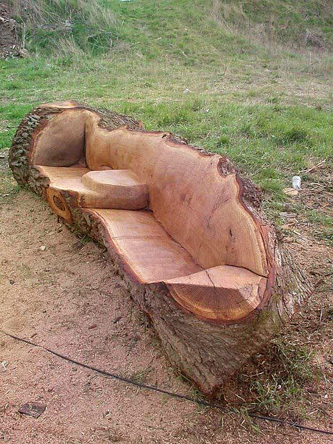 Yard furniture made out of tree trunks. Yard furniture made out of tree trunks    DIY   Pinterest   Yard