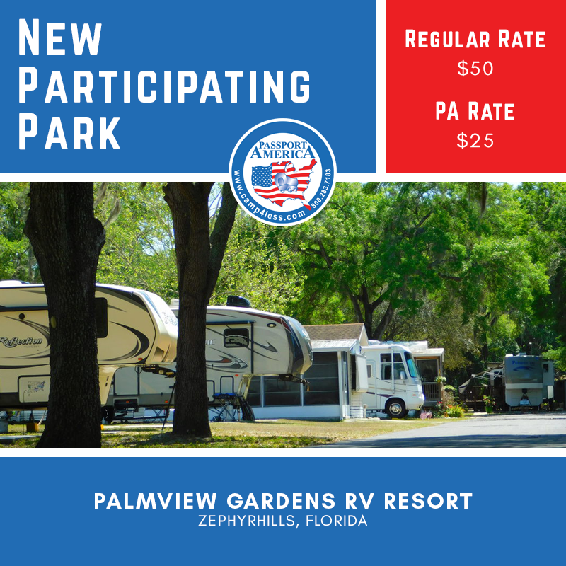 Palmview Gardens Rv Resort In Zephyrhills Provides Easy Access To Some Of The Best Attractions In Florida And Many Ameni In 2020 Florida Campgrounds Resort Zephyrhills