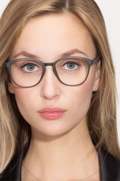 a474428ec7 Watermelon Matte Gray Plastic Eyeglasses from EyeBuyDirect. Exceptional  style