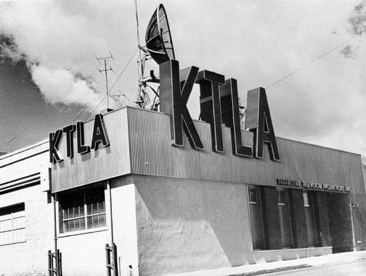 1947 Ktla The First Commercial Television Station The Ktla Studios In 1949 Tv Station Old Tv Shows San Fernando Valley