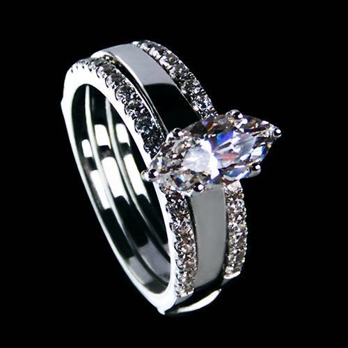 marquise cut wedding bands jewelry 2ct nscd synthetic diamond marquise cut engagement rings - Marquise Wedding Rings