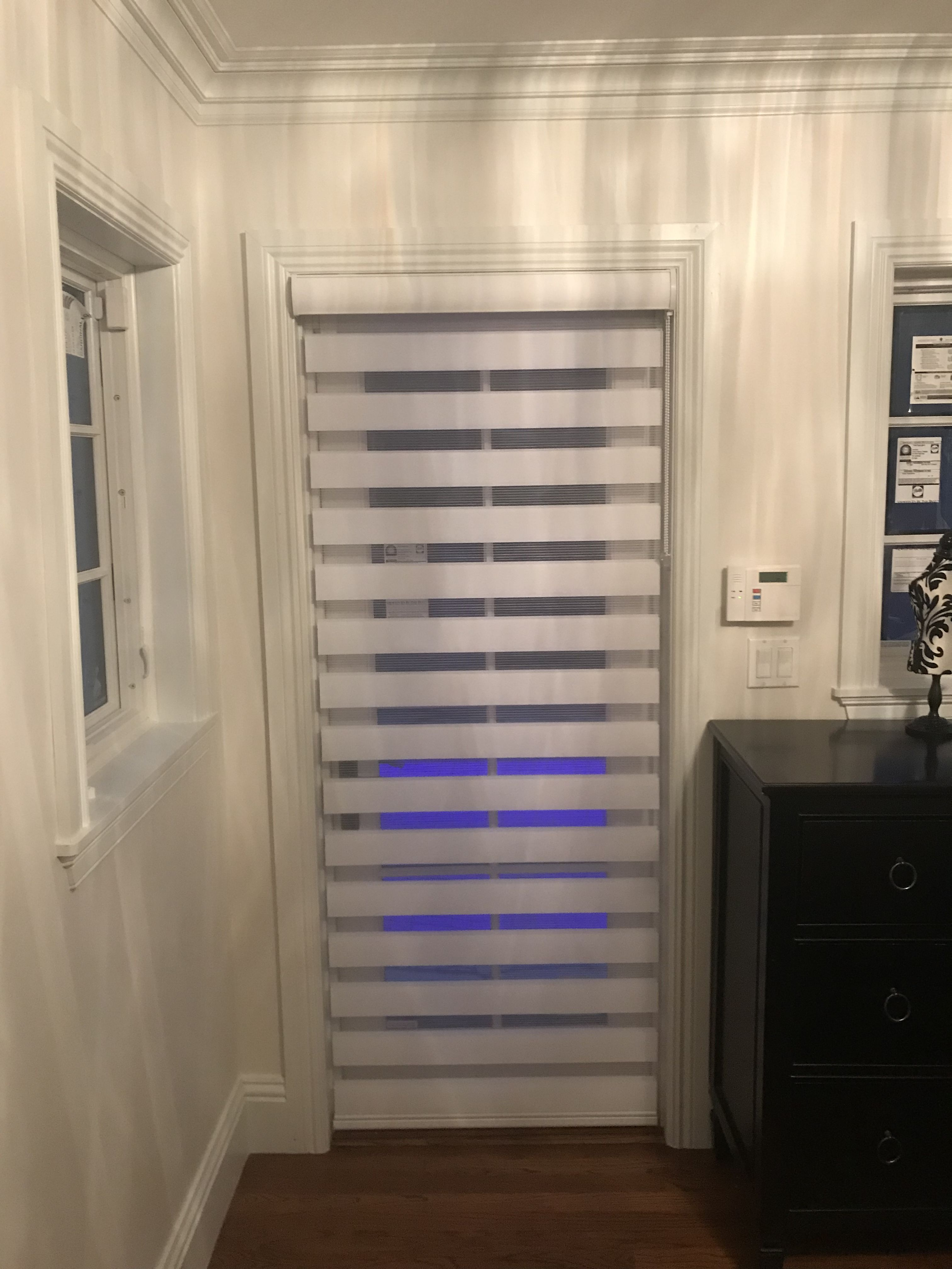 Door Zebra Illusion Privacy Shade by Elite Decor Miami & Door Zebra Illusion Privacy Shade by Elite Decor Miami | Door Blinds ...