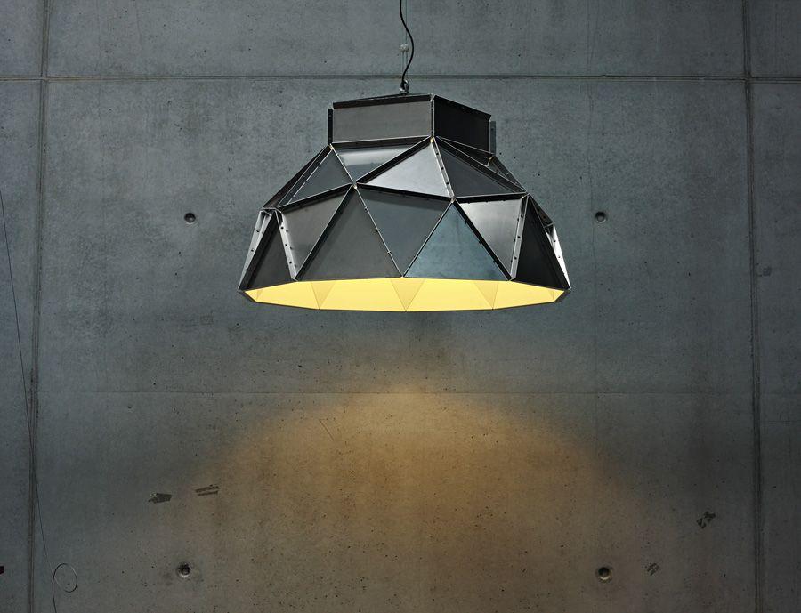 The Apollo lamp of Romy Kühne for Belgium brand Dark, made of aluminium