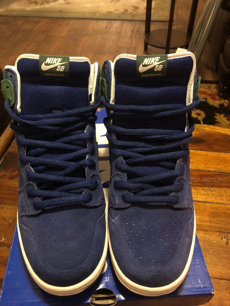 huge discount f0297 43b1d RARE NIKE DUNK HIGH PRO SB SEATTLE SEAHAWKS 12 DEEP ROYAL NOBLE GREEN  305050-40