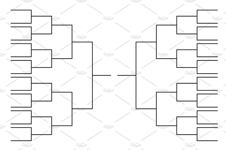 Black Tournament Bracket Template Templates Tournaments Bracket