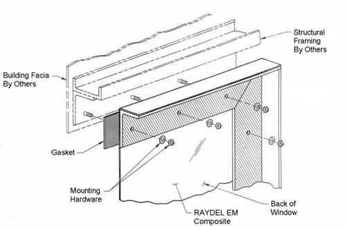 Typical pre tensioned em window assembly detail kovan for Bay window construction details