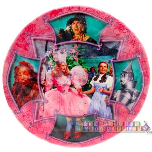 Wizard of Oz Vintage Large Paper Plates (8ct) || Hard To Find Party Supplies #scarecrow #lion #tinman  sc 1 st  Pinterest & Wizard of Oz Vintage Large Paper Plates (8ct) || Hard To Find Party ...