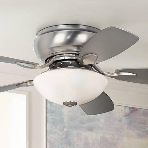 44 Casa Habitat Brushed Nickel Hugger Ceiling Fan 00819 Lamps Plus Hugger Ceiling Fan Ceiling Fan Ceiling Fan With Light Ceiling fans with lights for low ceilings