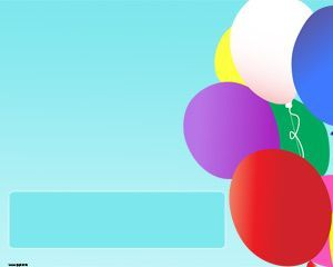 Colorful Balloons PPT Template with balloons slide design ... - photo#44