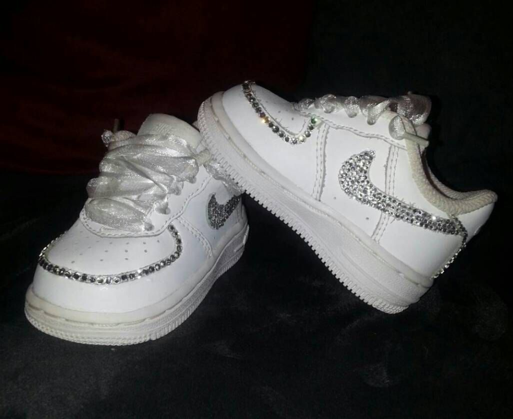 c250b4584d9cc Bling Air Force Ones- Infant  Toddler  Little Kid  Big Kid Sizes Available-  Boys- Girls- Fashionable   Customizable Back To School Shoes by DivineKidz  on ...