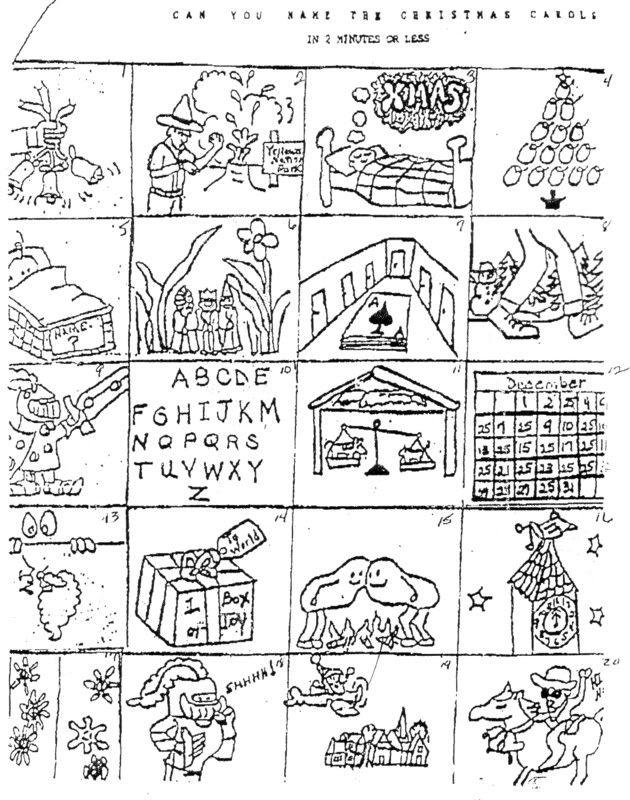 Christmas Carol Brain Teasers Printable Printable