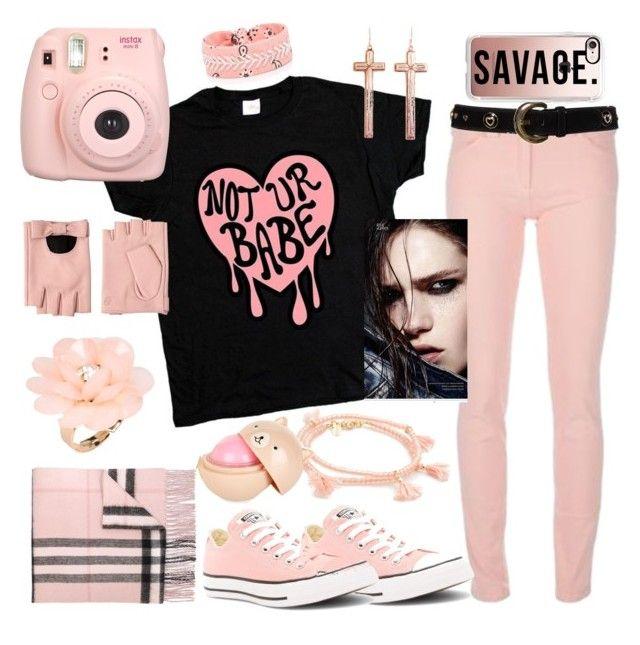 """Not Ur Babe"" by yournightnurse ❤ liked on Polyvore featuring Balenciaga, ESCADA, Converse, Burberry, Karl Lagerfeld, Casetify, VSA, Fallon, Dettagli and Shashi"