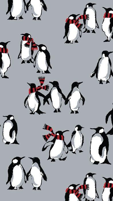 Playful Penguins Mobile Wallpaper Download Christmas Phone Wallpaper Wallpaper Iphone Christmas Christmas Wallpaper