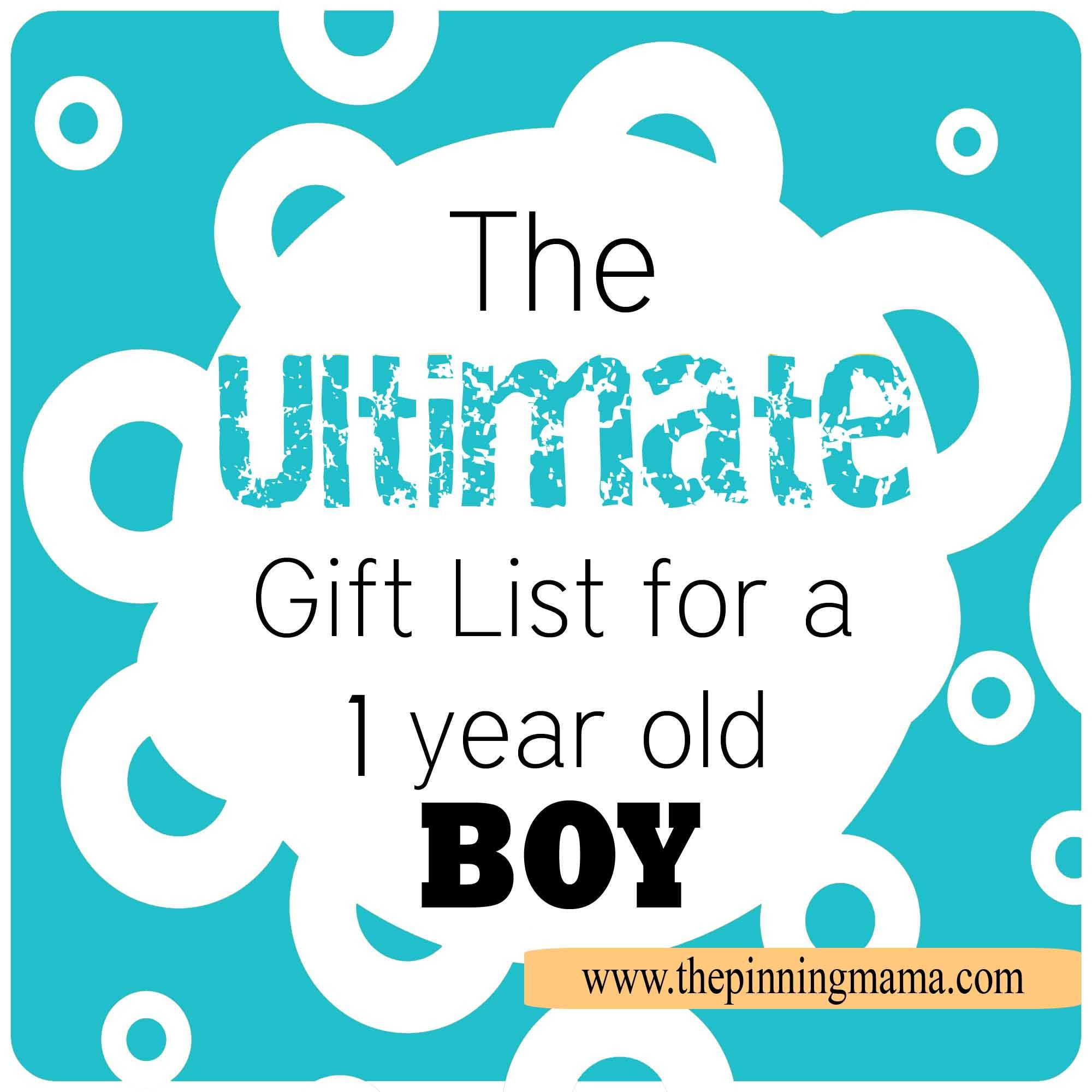 The Ultimate Gift List for a 1 Year Old Boy