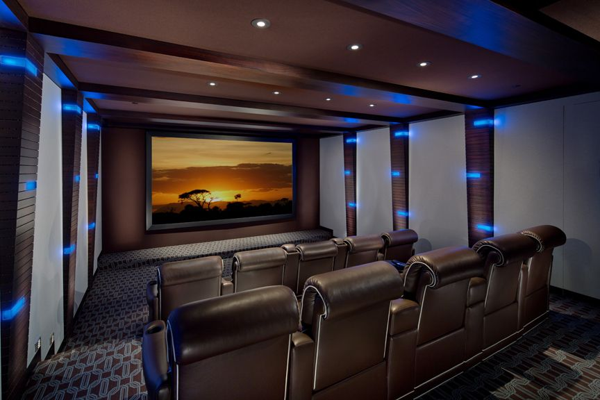 Modern Whimsical Home Theater Cedia Home Theater Design