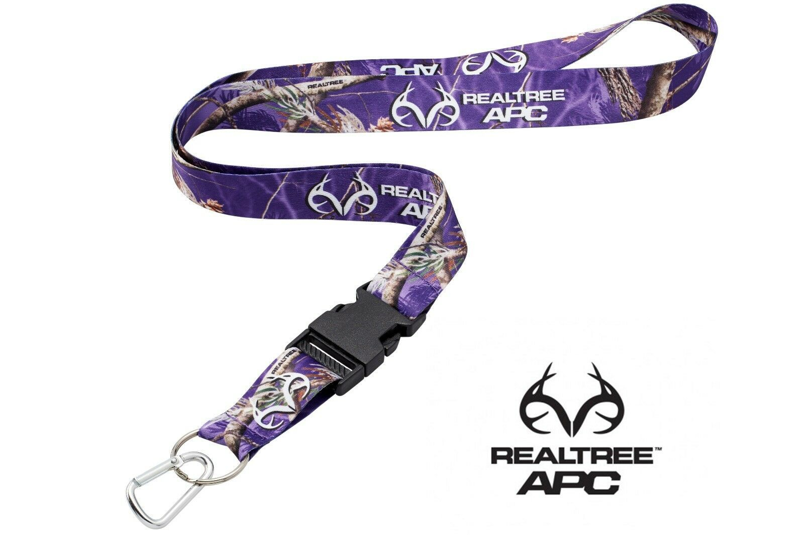 RealTree Neck Lanyard With Quick Release /& Carabiner Keychain