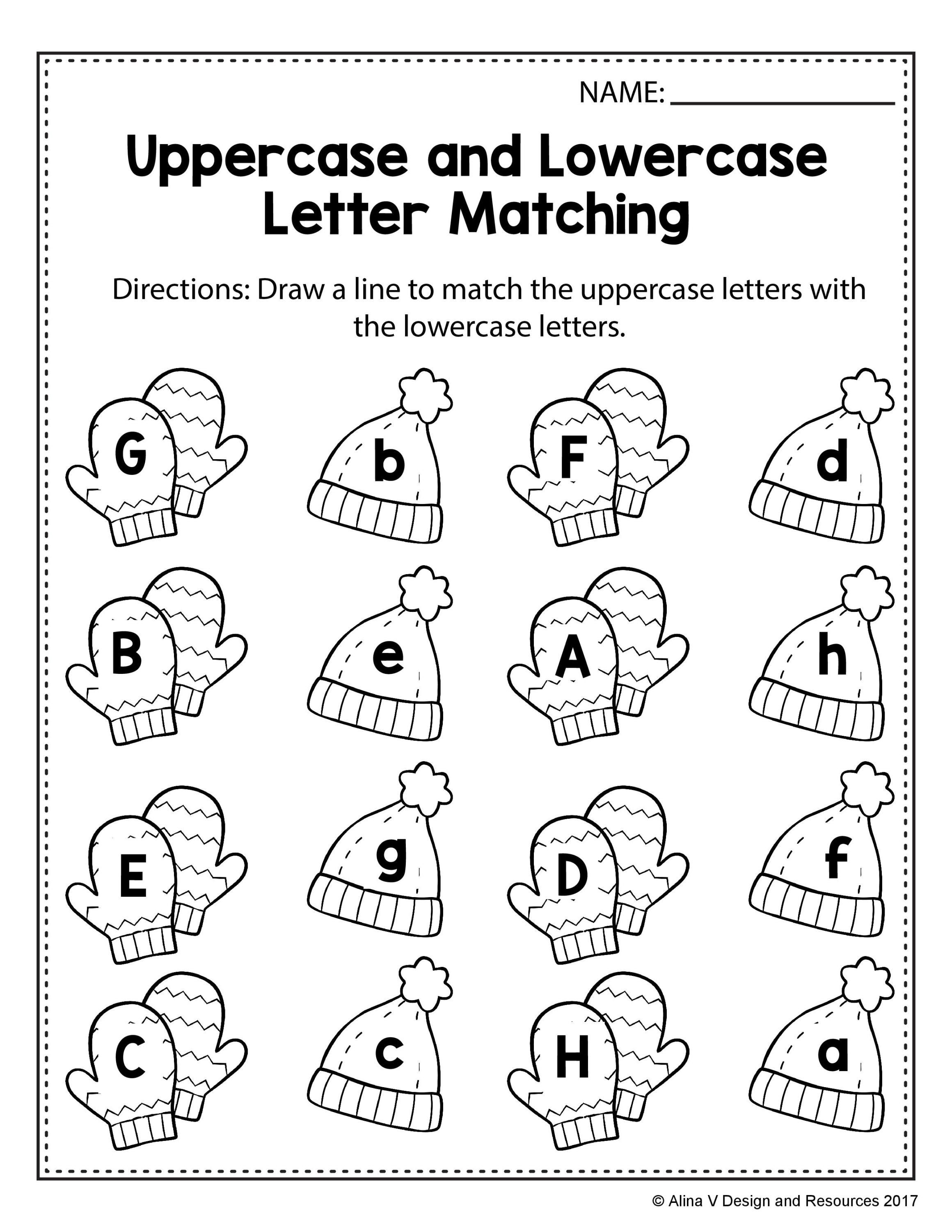 Free Winter Literacy Worksheet For Kindergarten No Prep Ideas For Teaching