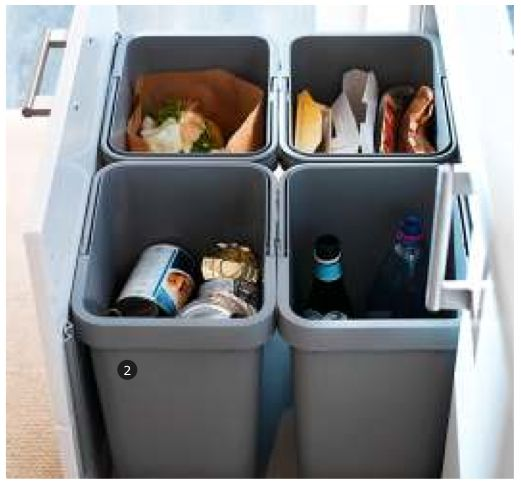 Ikea Kitchen Garbage Drawer: RATIONELL Recycling Bin - IKEA $8.99