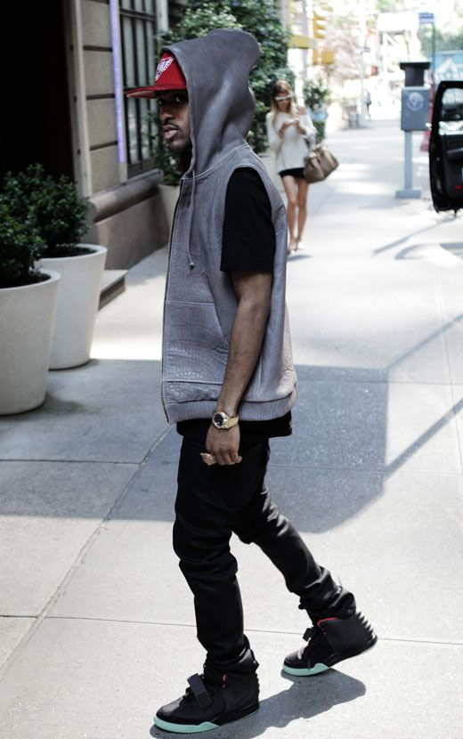 new arrival fe798 4a41b Big Sean wearing Nike Air Yeezy 2 Black Solar Red