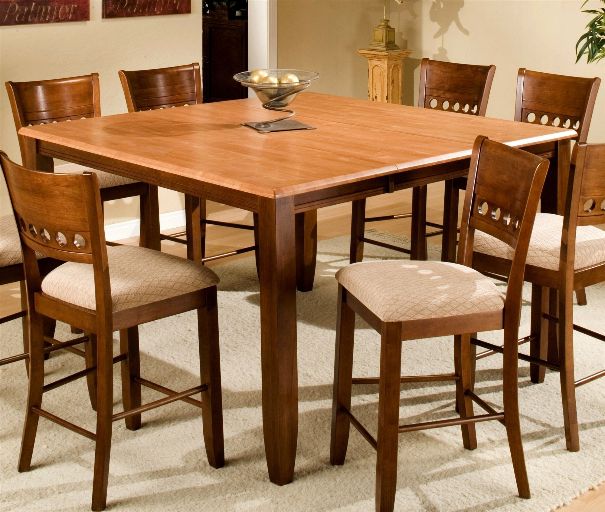 Square Dining Talbe For 8 With Leaf