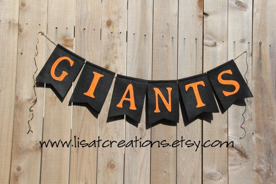 San Francisco Giants Felt Banner By Lisatcreations On Etsy