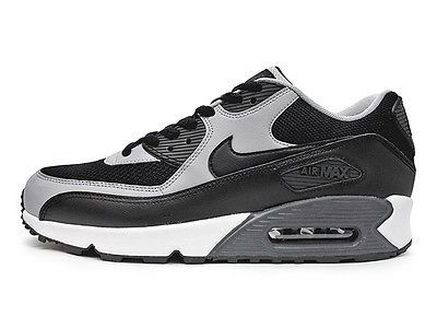 Nike Air Max 90 Essential Mens 537384 053 Black Wolf Grey