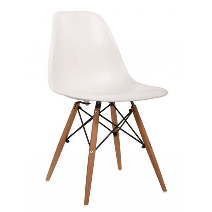 Chaise eames - DSW Blanche - Achat / Vente chaise Blanc - Cadeaux de ...