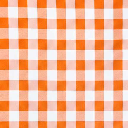 tablecloth, orange gingham | linen effects wedding, party, and event