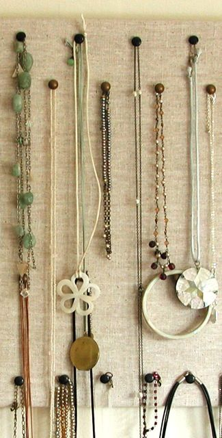 A cool idea for dealing with all those long necklaces I have DIY