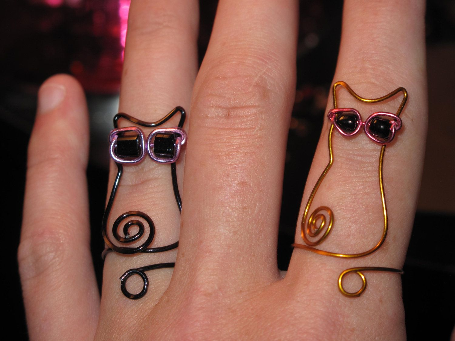 Wire Wrapped Cat Wearing Sunglasses MADE to ORDER