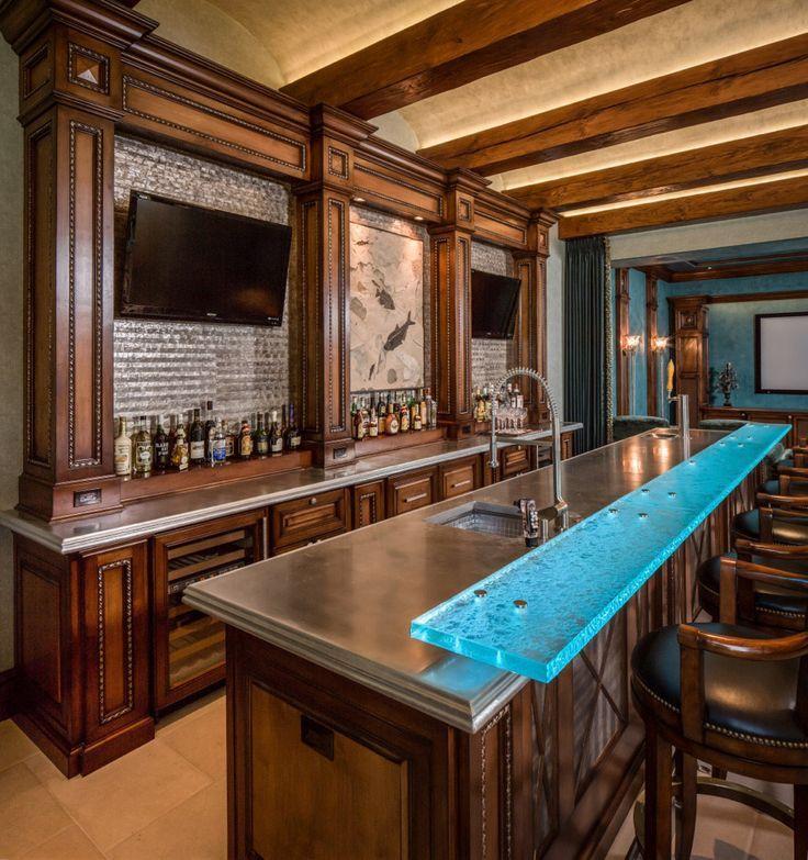 Custom Bars Wet Bar Ideas For Basement: Pin By HerSatisfiedSoul On Home Bars