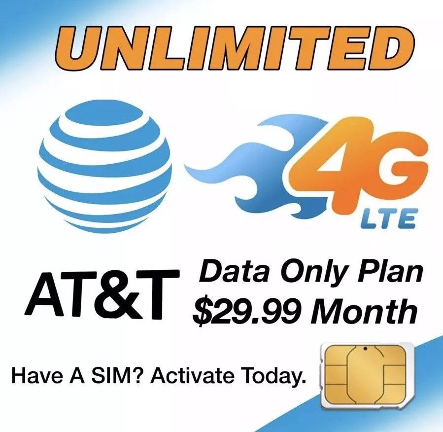 AT&T unlimited 4G LTE data plan accounts for sale! These