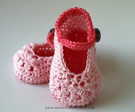 Crochet Baby Booties Crochet Mary Jane Baby Bootie Pattern 499