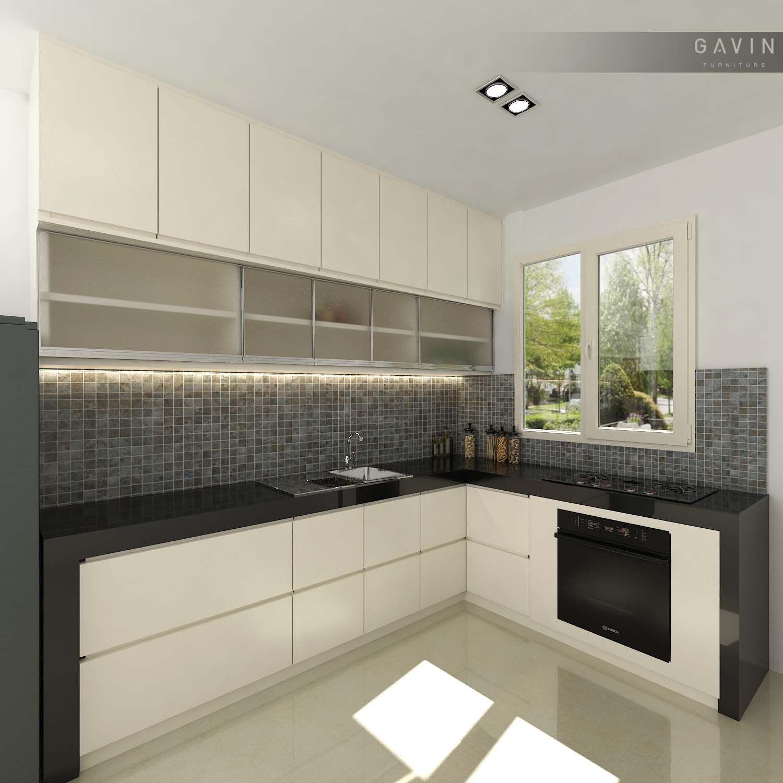 Pembuatan kitchen set cepat dengan hasil berkualitas kitchen set design model letter l gavin furniture belum lama ini telah memproduksi kitchen untuk klien