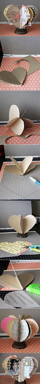 DIY Simple Heart Shape Picture Frame DIY Simple Heart Shape Picture Frame by diyforever