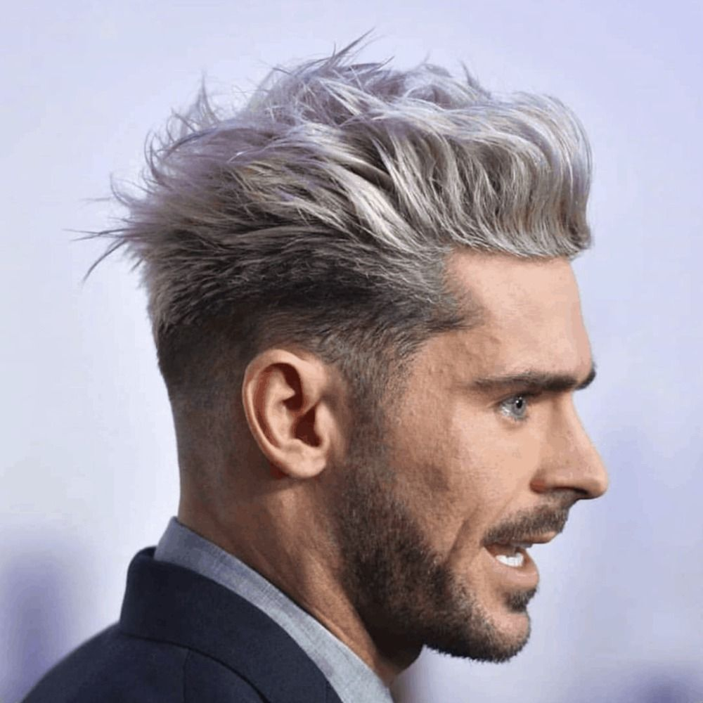 zac efron graues haar und haare grau färben mann | Haare