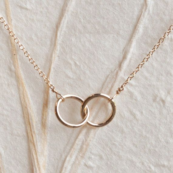 Petite Infinity Necklace Delicate Handmade By Shibusastudio Interlocking Rings Necklace Wedding Ring Necklaces Gold Necklace Simple