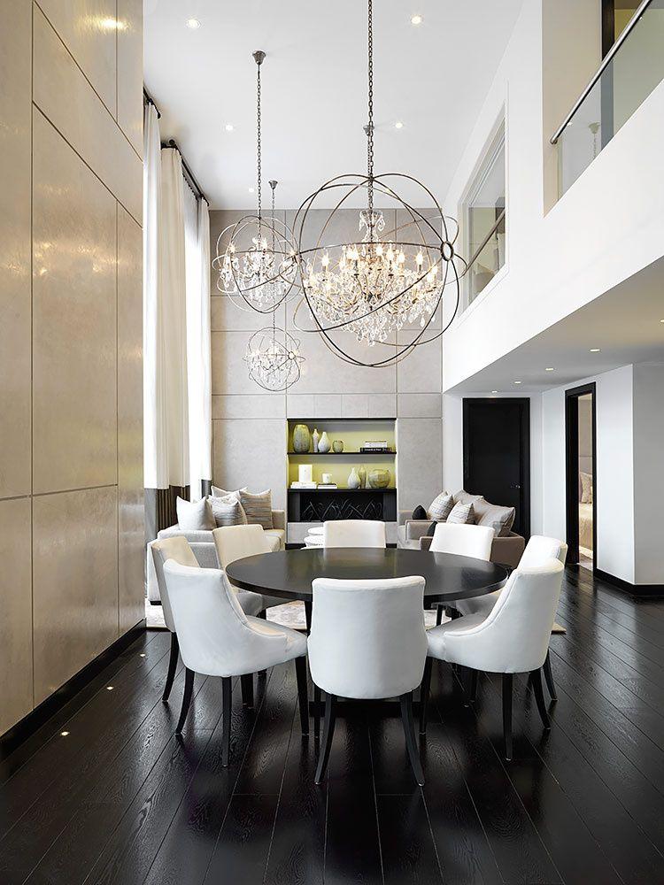 Habitar Con Elegancia Kelly Hoppen Interiors Diseno De La Sala De Comedor Y Candelabros De Comedor