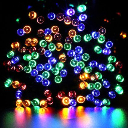 Solar String Lights,Gdealer 72ft 200 LED 8 Modes Solar Powered - solar christmas decorations