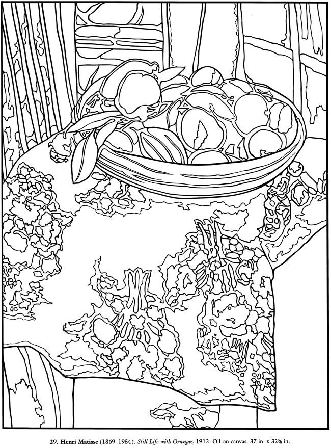 Still Life Coloring Pictures For Adults