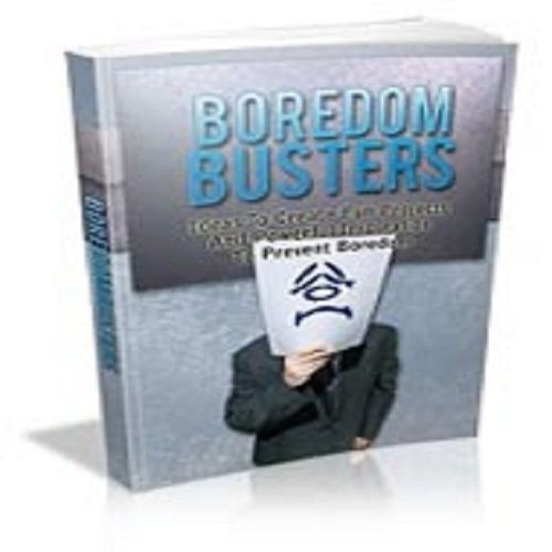 Boredom Busters Are you blasé about your work, your relationship, or your life in general? Boredom is a complex process. There are lots of reasons that one may be bored. The most common one is that you've no idea what to do. However additional reasons may be you feel lazy or tired and just don't wish to do the things that are available for you to do. self0.02