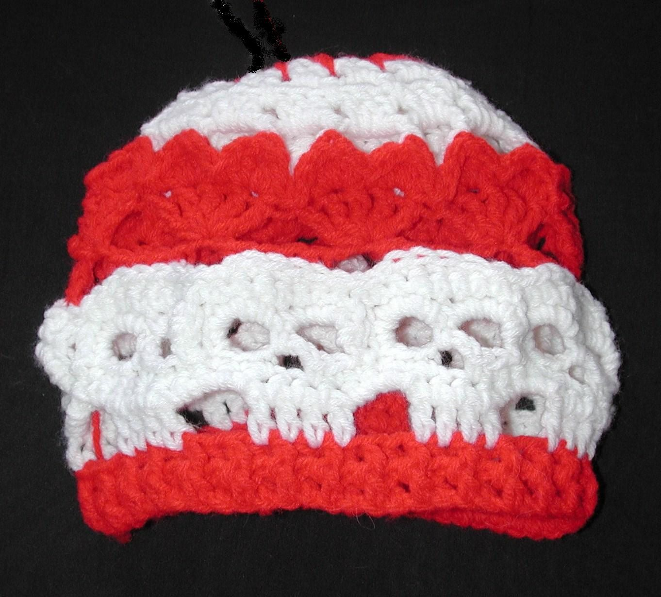 Pdf I Love Skulls Beanie Pattern Crochet Beanie Hat Patterns