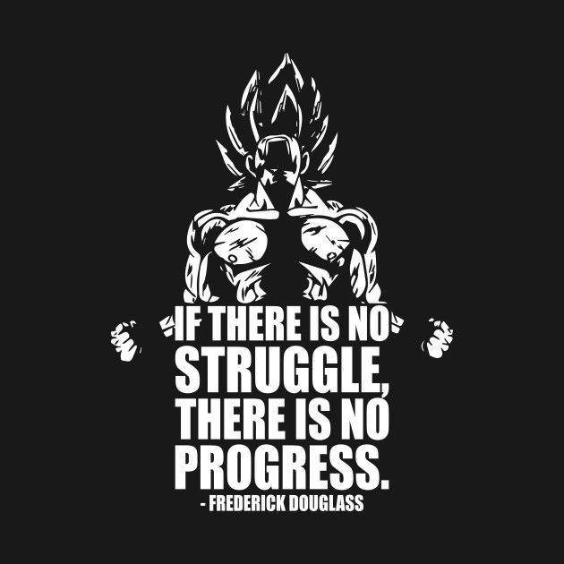 No Struggle No Progress Goku By Oolongtee Dragon Ball Dragon