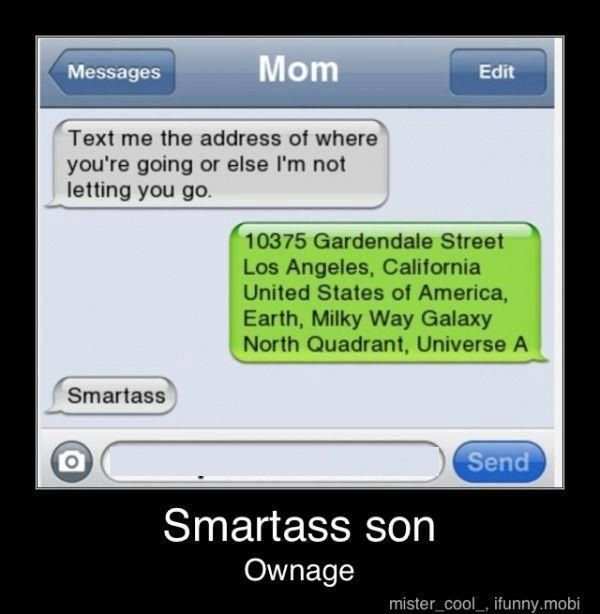Smartass texts