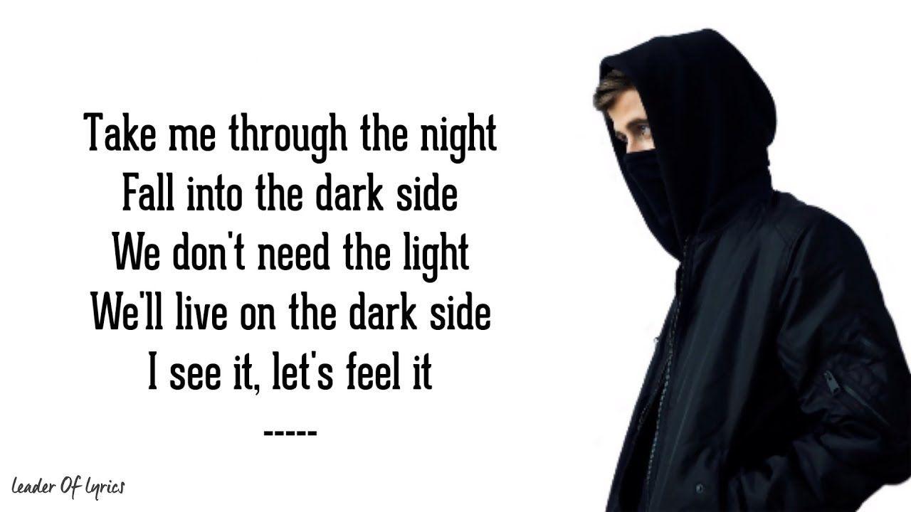 Alan Walker Darkside Lyrics Ft Au Ra Tomine Harket Youtube Alan Walker Lyrics Walker Wallpaper