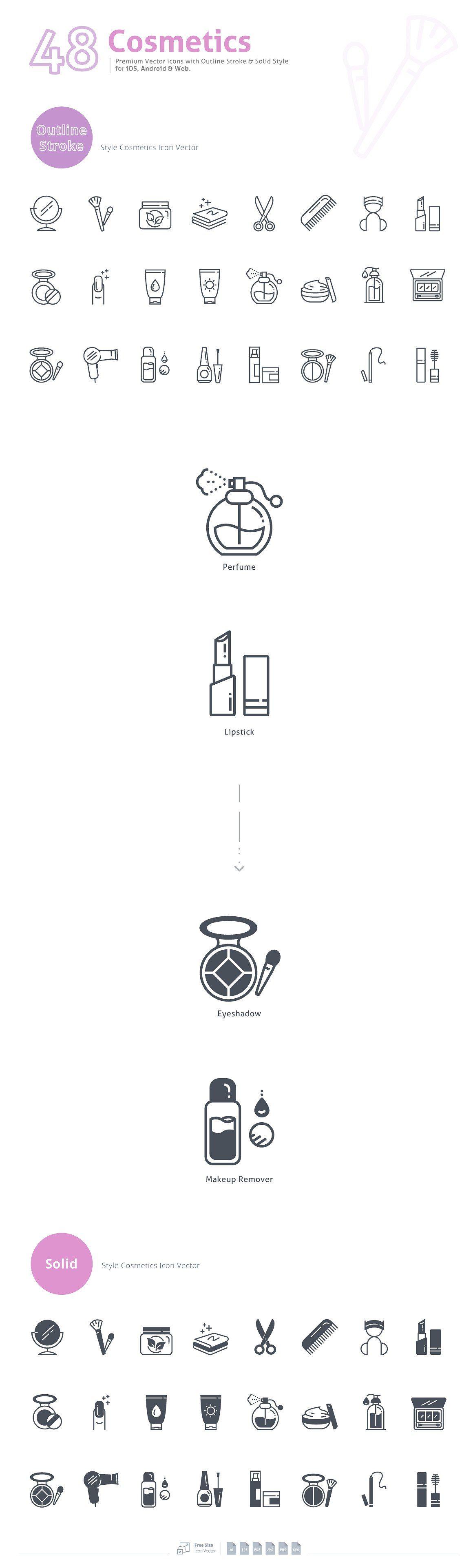 Cosmetics Premium Vector Icons Vector icons, Cosmetic