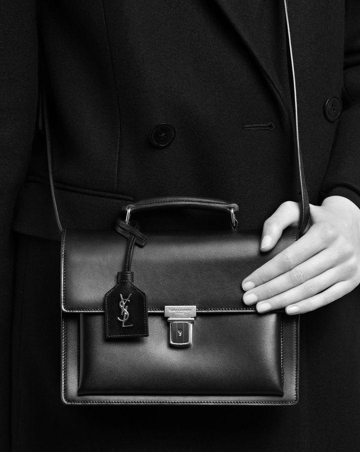 e2beb6b3ef8 saintlaurent, Medium HIGH SCHOOL SAINT LAURENT Satchel in Black Leather