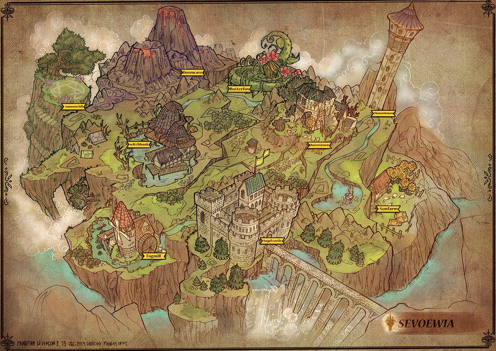 Feng Zhu Design: Old School RPG Maps | Concept art enviroment, props ...