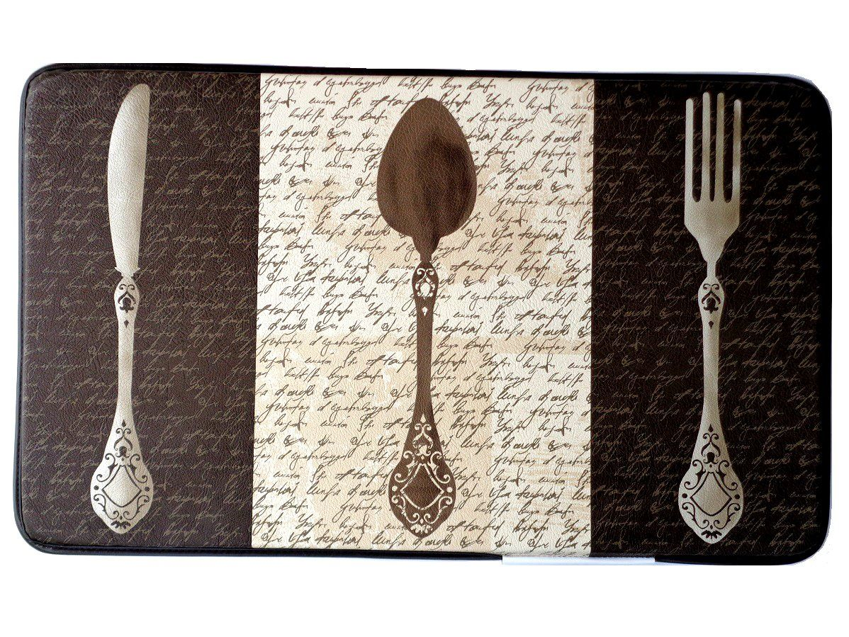 Knife Fork Spoon Silverware Kitchen Comfort Mat $29.95 | Fat Chefs ...